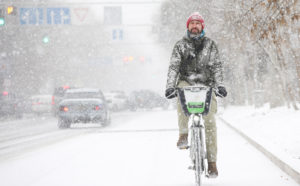 Всемирный день «Зимой на работу на велосипеде»